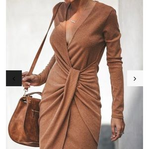 Gabriella Ribbed Twist Dress